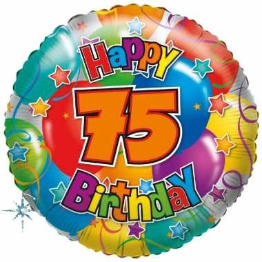 Kado ballon 75e verjaardag 35 cm