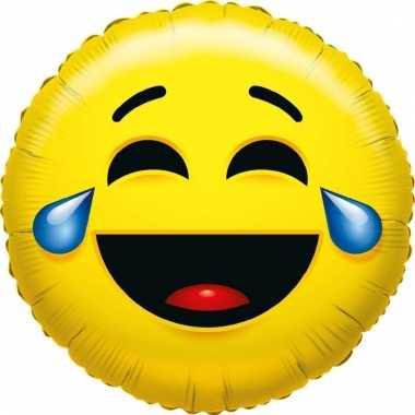 Kado ballon emoticon met lach 35 cm