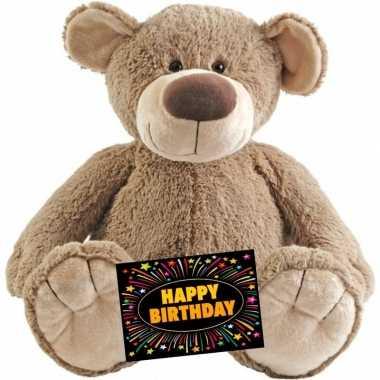 Kado knuffel beer 100 cm + gratis verjaardagskaart