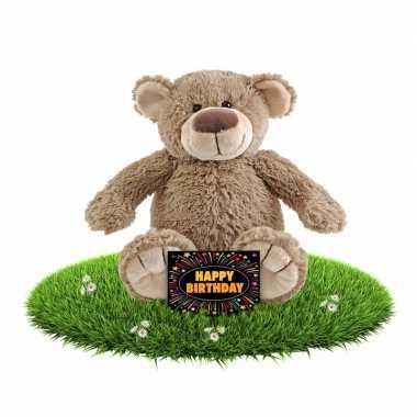 Kado knuffel beer 40 cm + gratis verjaardagskaart
