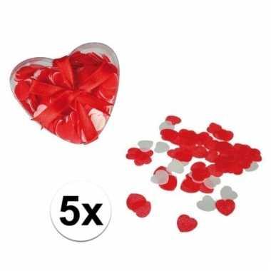 Kado rode hartjes confetti voor in bad 100 gram
