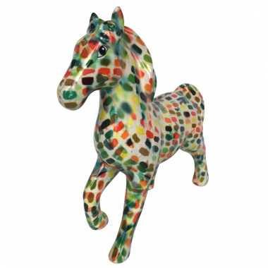 Kado spaarpot paard multicolour stip