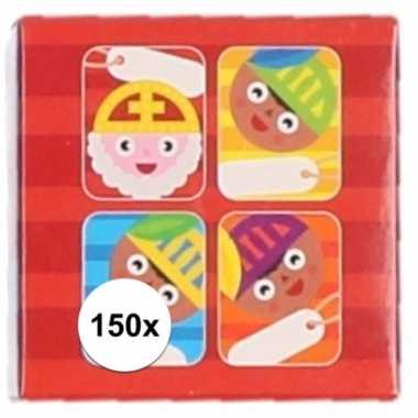 Kado stickers sint cartoon 150 stuks
