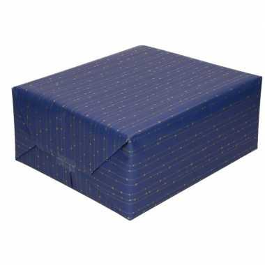 Kadopapier blauw gekleurd 70 x 200 cm