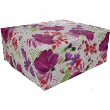 Kadopapier bloemen type 9 70 x 200 cm