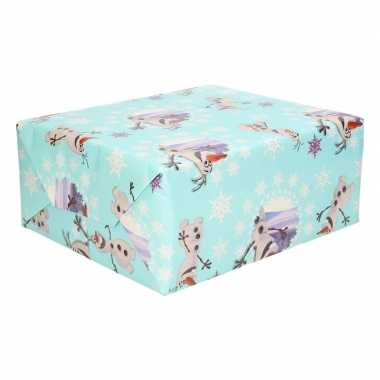 Kadopapier/cadeaupapier rol disney frozen olaf 200 x 70 cm