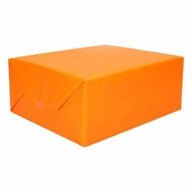 Kadopapier geel oranje 200 x 70 cm