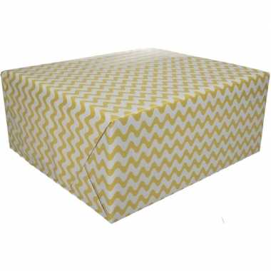 Kadopapier grafische print geel 70 x 200 cm
