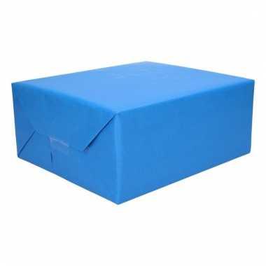 Kadopapier rood blauw 200 x 70 cm