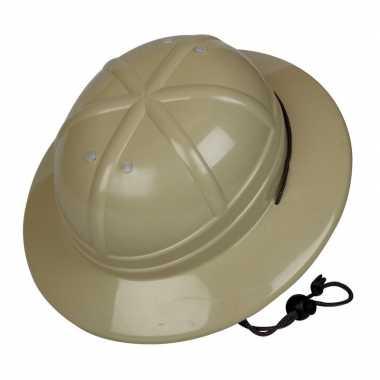 Kaki jungle helm voor kinderen