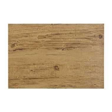 Kantoor bureau onderlegger hout look bruin 45 x 30 cm