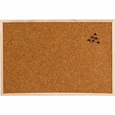 Kantoor kurken prikborden/memoborden 45 x 30 cm
