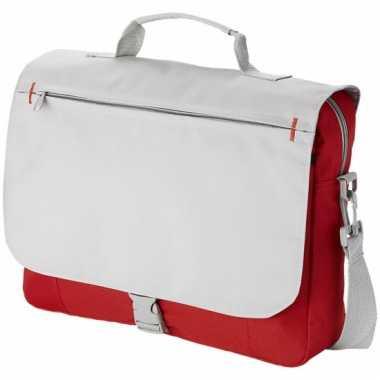Kantoor tas grijs/rood