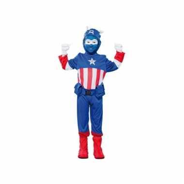 Kapitein amerika verkleedoutfit voor jongens