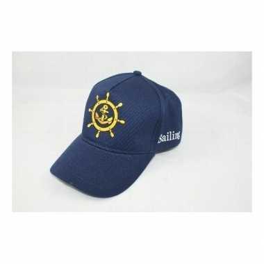 Kapiteinspet blauw verkleed accessoire voor volwassenen