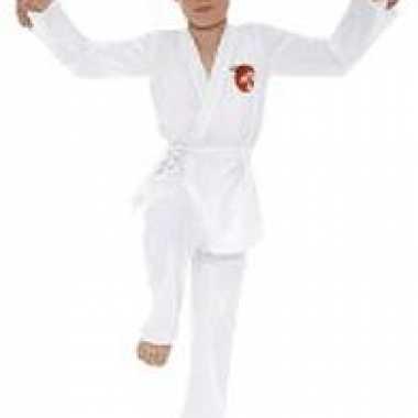 Karate kid kostuum wit voor kids