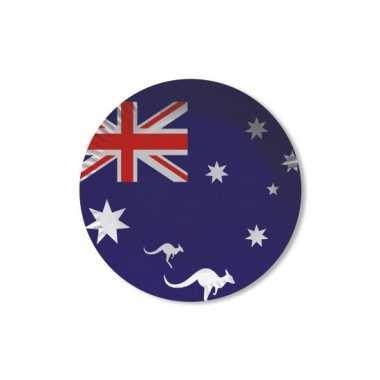 Kartonnen bordjes met vlag van australie 8x