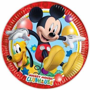 Kartonnen bordjes mickey mouse 16 stuks