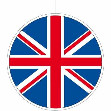 Kartonnen decoratie england/great britain 28 cm