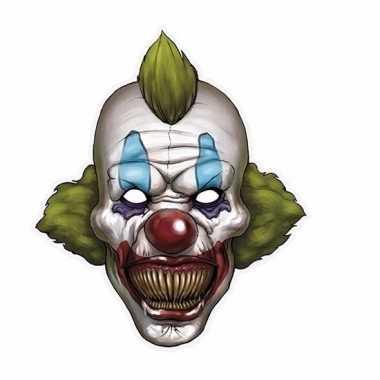 Kartonnen horror clown masker
