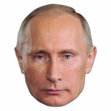 Kartonnen masker president poetin