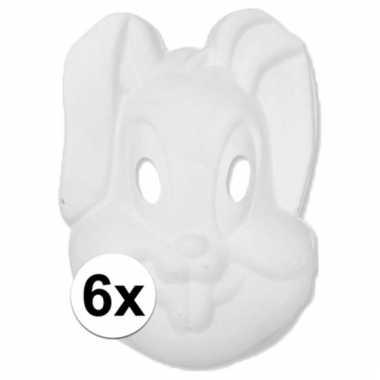 Kartonnen maskers konijntje/haasje