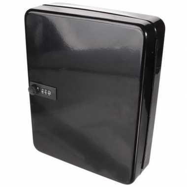 Kastje voor sleutels zwart 30 x 24 cm