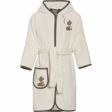 Katoenen badjas beige voor kinderen
