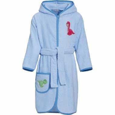 Katoenen badjas blauw voor kinderen