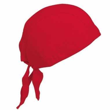 Katoenen dames bandana rood