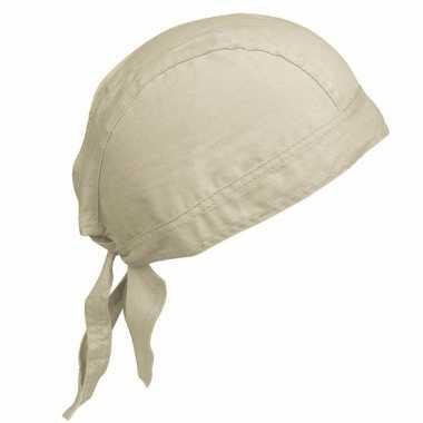 Katoenen dames bandana zand