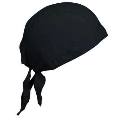 Katoenen dames bandana zwart