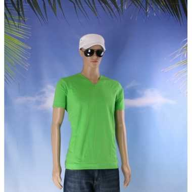 Katoenen lemon soda heren lime v hals shirt