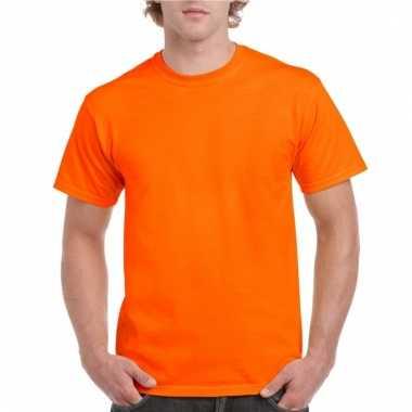 Katoenen t-shirt oranje voor volwassenen