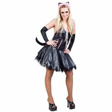 Katten/poezen jurk met accessoires voor dames