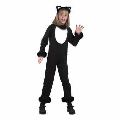 Katten/poezen onesie verkleedkleding voor kids