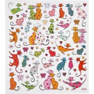 Katten thema kinder stickers