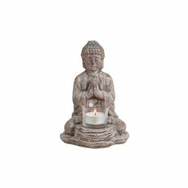 Keramieke waxine houder boeddha