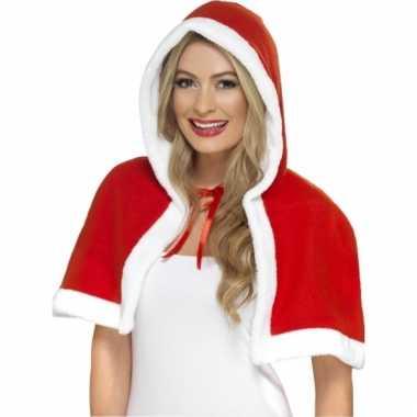 Kerst accessoires cape met capuchon