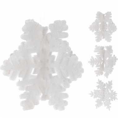 Kerst artikelen sneeuwvlok glitter