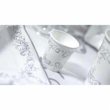 Kerst bekertjes zilver 8 stuks