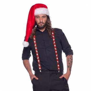 Kerst bretels met winterse print voor volwassenen 10098746