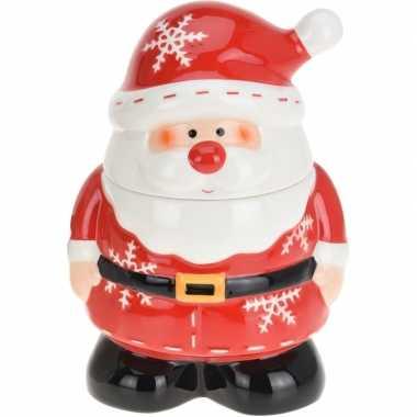Kerst decoratie/versiering voorraadpot voor koekjes met kerstman 23 x