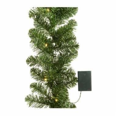 Kerst guirlande met verlichting 180 cm