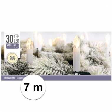 Kerst kaarsen led lichtjes warm 7 meter binnenverlichting