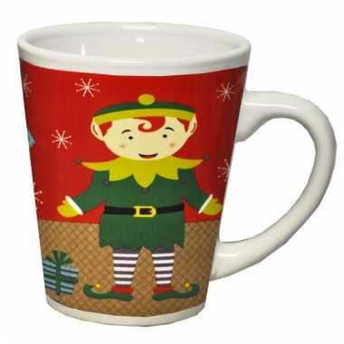 Kerst koffiemok met kerstelf