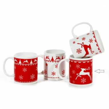 Kerst melkbeker rood type 2