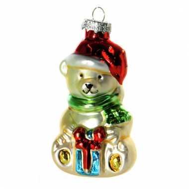 Kerst ornament beertje 8 cm