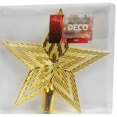 Kerst piek gouden 21 cm