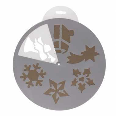Kerst raamdecoratie sjablonen 6 stuks type 1 herbruikbaar